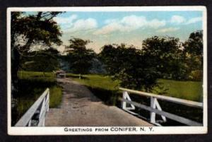 NY Greetings from CONIFER NEW YORK PC Horse & Buggy