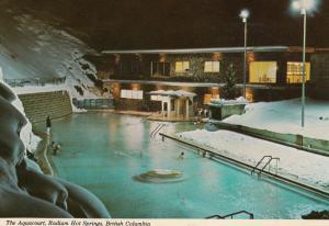 RADIUM HOT SPRINGS, British Columbia, Canada, 1950-60s; The Aquacourt