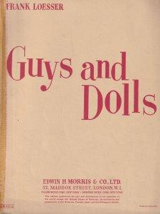 Guys & Dolls Musical Edwin Morris Giant Piano Sheet Music Album Book