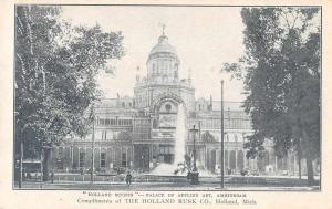 Amsterdam Holland Palace of Applied Art Antique Postcard J68561