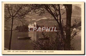 Old Postcard Lac d & # 39Annecy the castle of Duingt