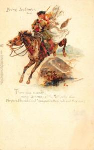 Young Lochinvar Artist Signed J. Finnemore Poem Early Tuck #465 Postcard