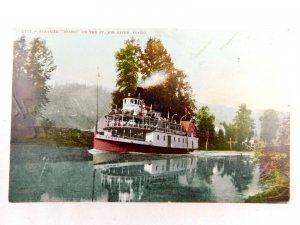 Circa 1910 The Steamer Idaho on the St. Joe River, Idaho Vintage Postcard P28