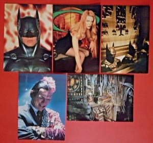 Set of 5 Batman Postcards DC Comics, Batman Forever