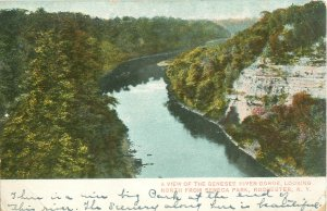 Rochester, NY Genesee River Gorge Looking North From Seneca Park 1907 Postcard