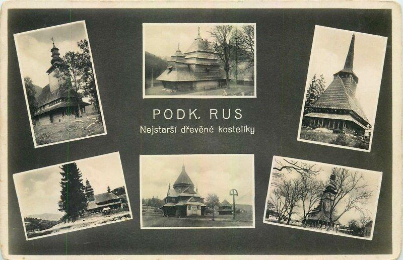 Postcard Czech Republic Podk Rus multi view