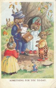 AS; JEAN HOWE, 1900-10s; Rabbits, Postman,Something For You Today.