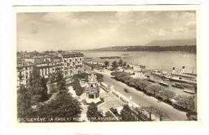 RP: GENEVE, La Rade et Monument Brunswick , Switzerland, 1910s
