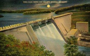 TN - Norris Dam & Lake By Night