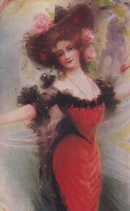 Woman in red , 1907