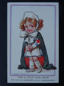 WW1 Comrade ll Series EVEN A LITTLE THING HELPS Fred Spurgin 1915 Postcard