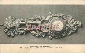 Old Postcard Musee des Arts Decoratifs Cartel Wood Sculpting Louis XVI