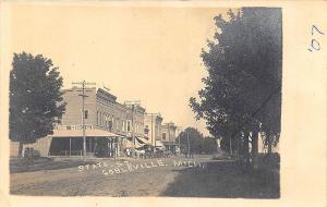 Cobleville MI Storefronts Dirt State Street RPPC Postcard