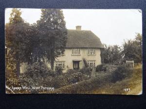 Kent WEST PECKHAM Adams Well COTTAGE - Old RP Postcard