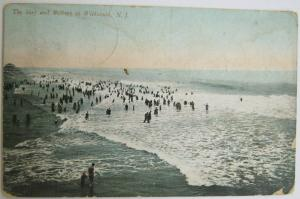 The Surf and Bathers At Wilwood NJ 1909