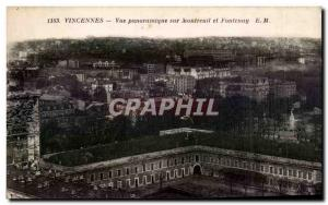 Postcard Old Vincennes Panoramic Montreuil and Fontenay
