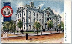 Trenton, New Jersey Postcard State Capitol Building, Artist's View TUCK'S 1910s