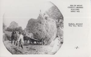 The Hay Wain Cart Isle Of Wight Farming Real Photo Rare Rural Library Postcard