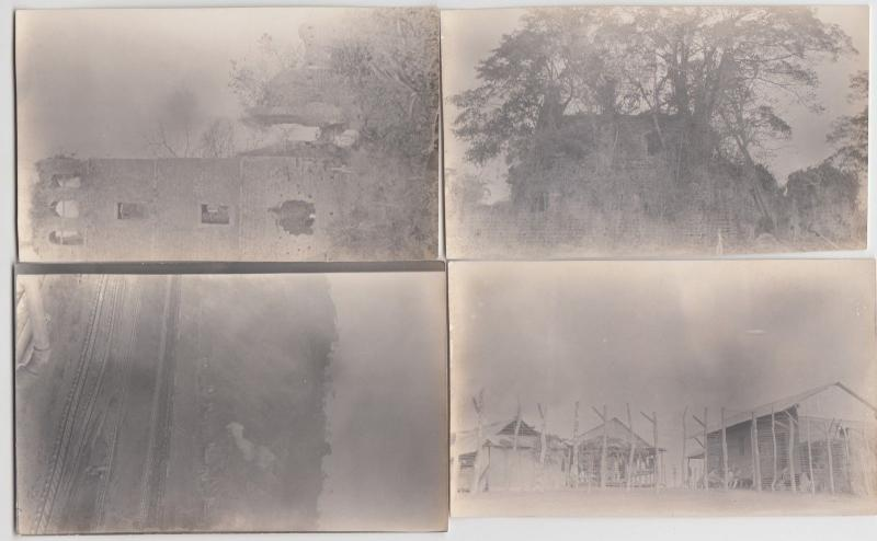 c1920s PANAMA CANAL Real Photo RPPC 22 Postcards SET Ships Buildings Equipment