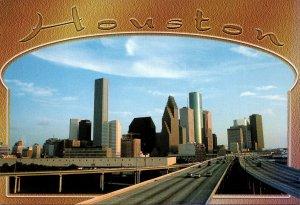 Texas Houston Skyline From Interstate