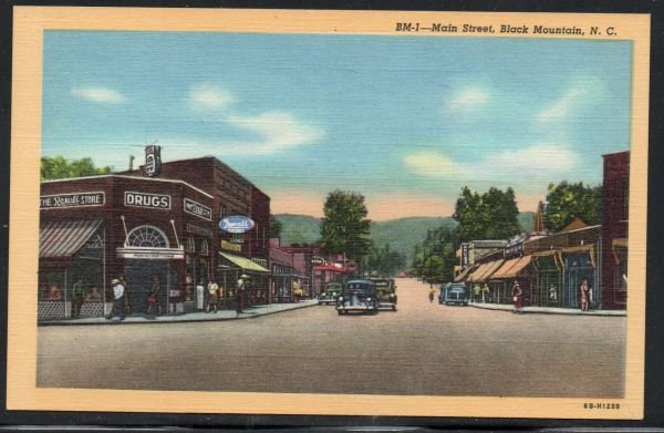 North Carolina colour Main Street Black Mountain, N.C unused