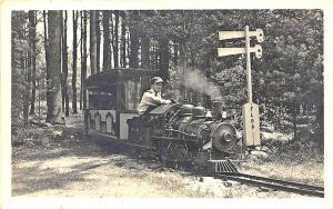 North Hampton NH Smokey Joe Miniature F. L. R. R. Railroad Train RPPC Postcard