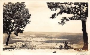 Monteagle Tennessee~Eagle Cliff View of Town & Farm Fields~1948 RPPC-Postcard