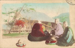 Japan Monks With Temple 04.46