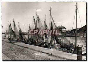Modern Postcard Honfleur Fishing boat dockside Boat