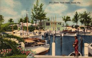 Florida Dania Yacht Basin 1955 Curteich