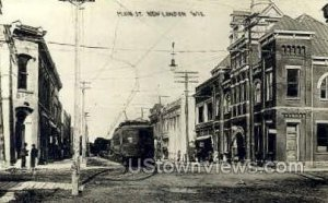 Real Photo - Main St. - New London, Wisconsin