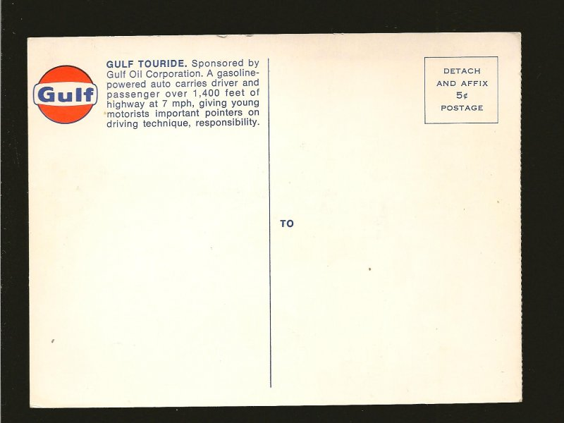 Gulf Oil Corporation Gulf Touride 1960's Color Postcard Unposted