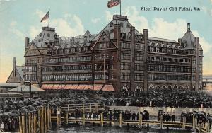 Old Point Comfort Virginia~Fleet Day Crowd~Hundreds of Umbrellas~1912 PC