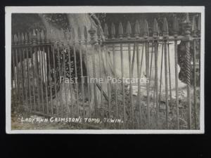 Hertfordshire TEWIN Lady Anne Grimston's Tomb - Old RP Postcard