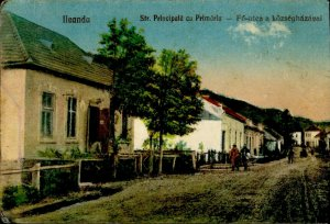 IMR00337 romania salaj ileanda main street city hall types vintage clothes 1928