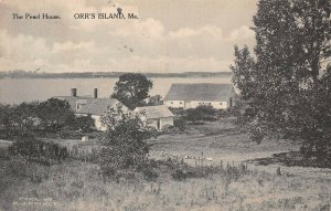 LPS100 Orr's Island Maine The Pearl House Vintage Postcard