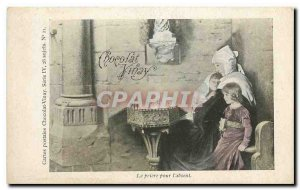 Old Postcard Chocolate Vinay The prayer for the absent