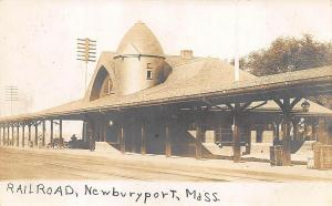 Newburyport MA Railroad Station Train Depot RPPC