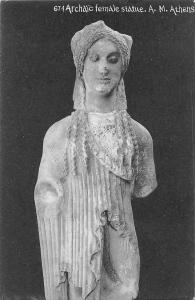 Archaic female statue. A.M. Athens, Statuette, Sculpture