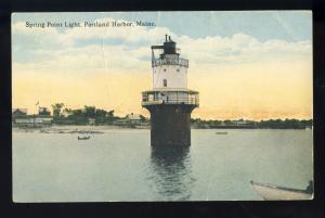 Portland, Maine/ME Postcard, Spring Point Lighthouse/Light