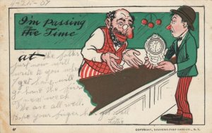 COMIC; PU-1907; Jewish Man buying a clock man is pawning, I'm passing the Time