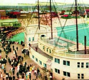 Venice Von Kai Schiff Cabrillo Strand Unp Unbenutzt 1910s Newman Postkarte Co