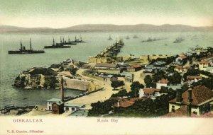 Gibraltar, Rosia Bay, Marine Ships (1899) V.B. Cumbo Postcard