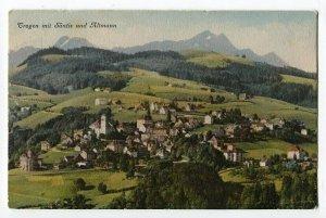 100212 Trogen Switzerland Schweiz mit Santis und Altmann Vintage Postcard