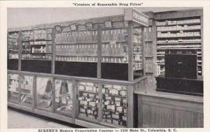 South Carolina Columbia Eckerd's Modern Drug Store Prescription Counter