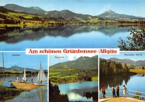 Gruntensee Allgau Alpspitze Wertacher Hornle Lake Boats Postcard