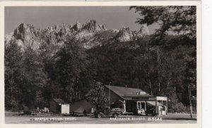 California Castle Crags Joe Ammirati Storte & Gas Station Real Photo 1957 sk3761