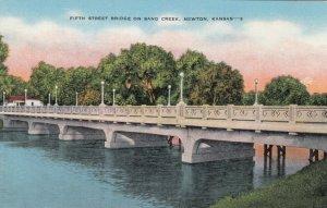NEWTON , Kansas, 1930-40s; Fifth Street Bridge on Band Creek