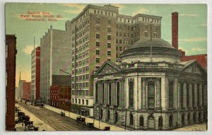 Old Divided Back Postcard Euclid Ave. East From 9th St. Cleveland, OH Used 1912