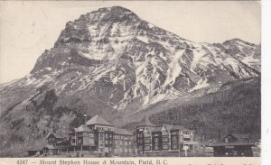 FIELD, Brortsh Columbia, Canada; Mount Stephen House & Mointain, PU-1908